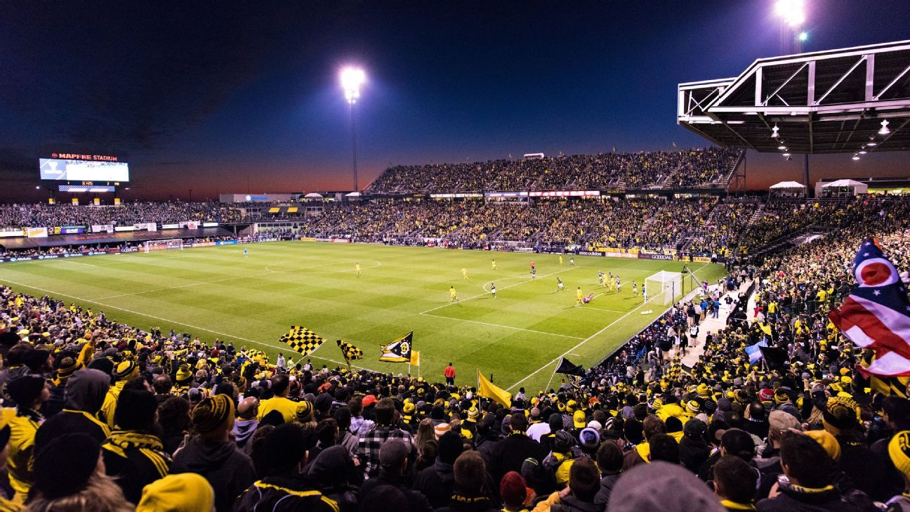 General view of MAPFRE Stadium in Ohio during the MLS Cup between the Columbus Crew and Portland Timbers.