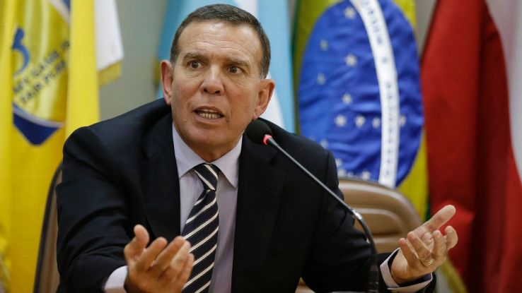 Former CONMEBOL chief Juan Angel Napout was convicted of conspiracy to accept bribes.
