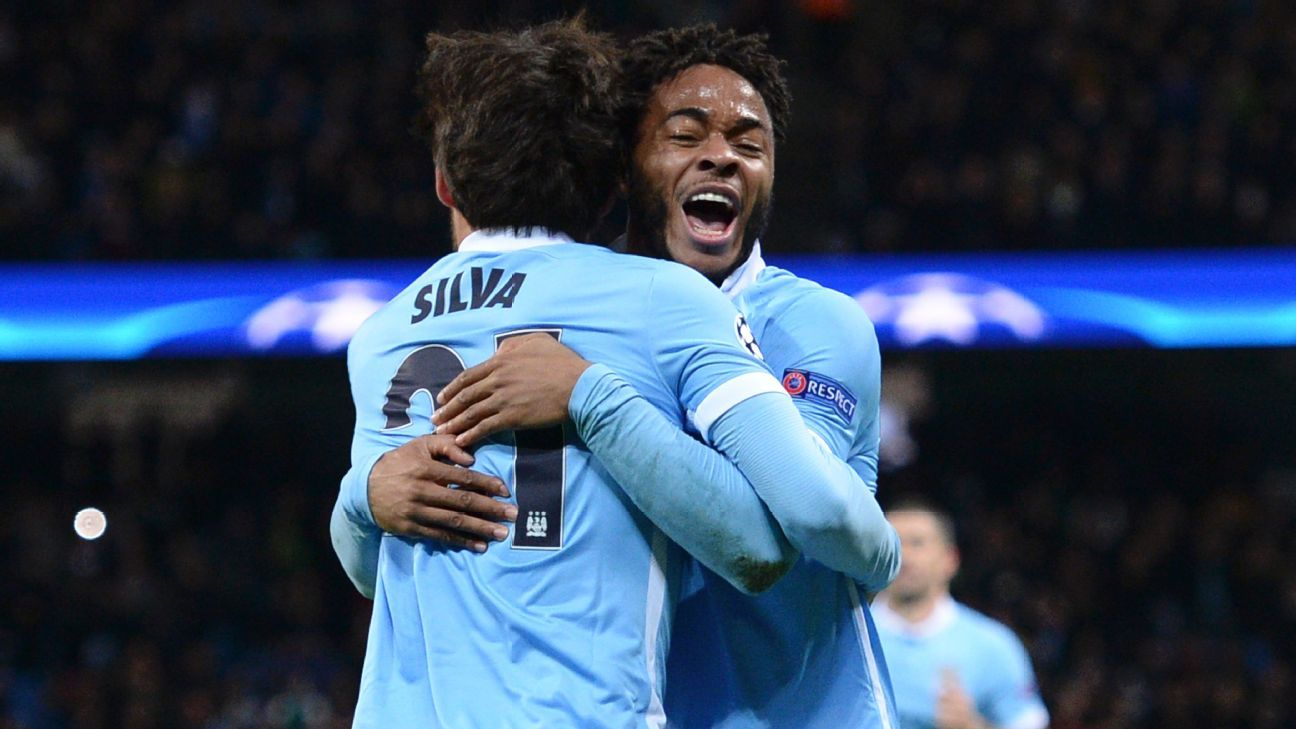 David Silva and Raheem Sterling