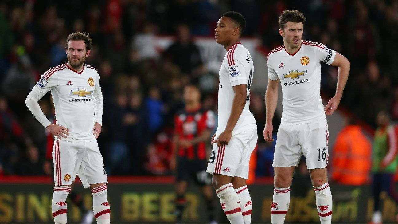 After being eliminated from the Champions League, Manchester United's week went from bad to worse at Bournemouth.