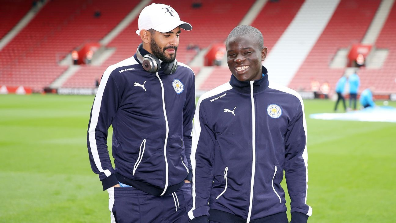 Jamie Vardy may get most of the headlines, but it is the midfield duo of Riyad Mahrez and N'Golo Kante that has powered Leicester City to the top of the table.