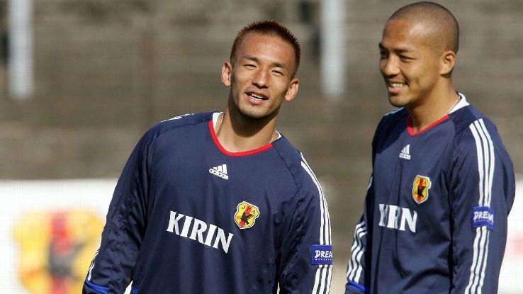 Shinji Ono and Hidetoshi Nakata of Japan