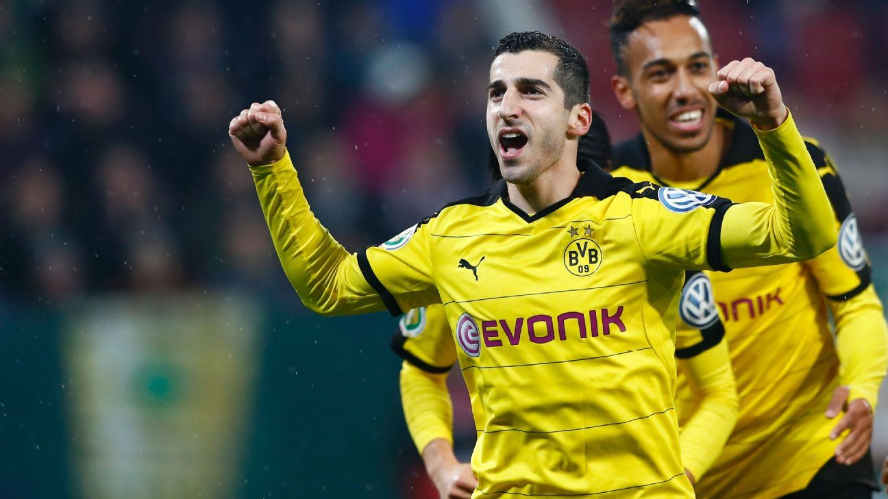 Henrikh Mkhitaryan's goal on Wednesday vs. Augsburg was his 10th this season in all competitions.