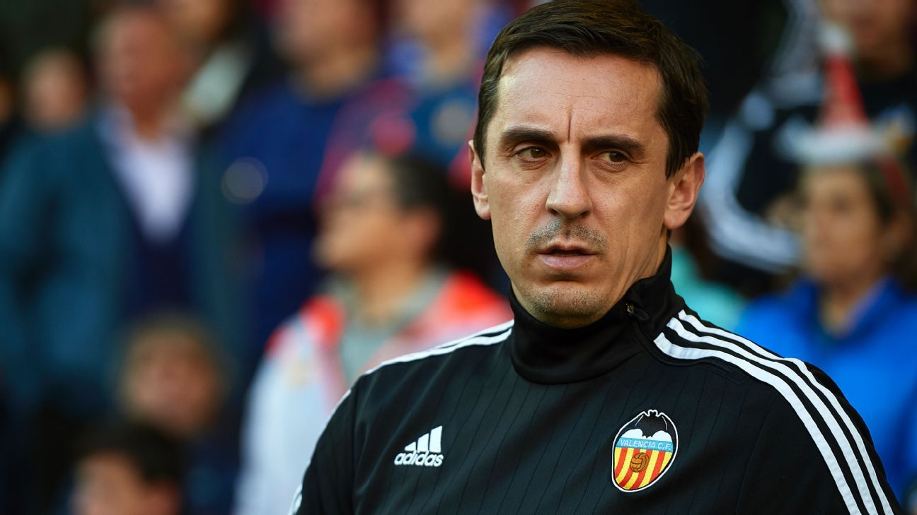 Gary Neville's second half substitutions almost cost Valencia a point.