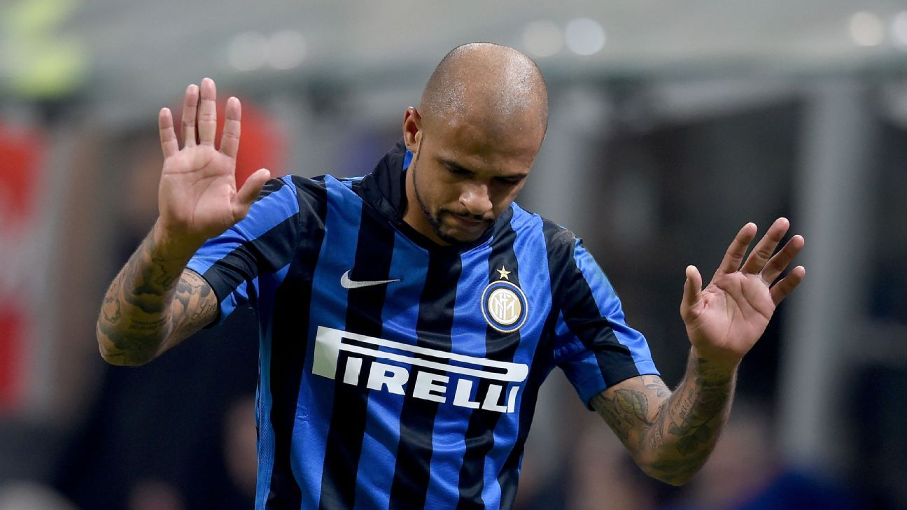 Sunday's loss to Lazio was a day to forget for Inter's Felipe Melo.