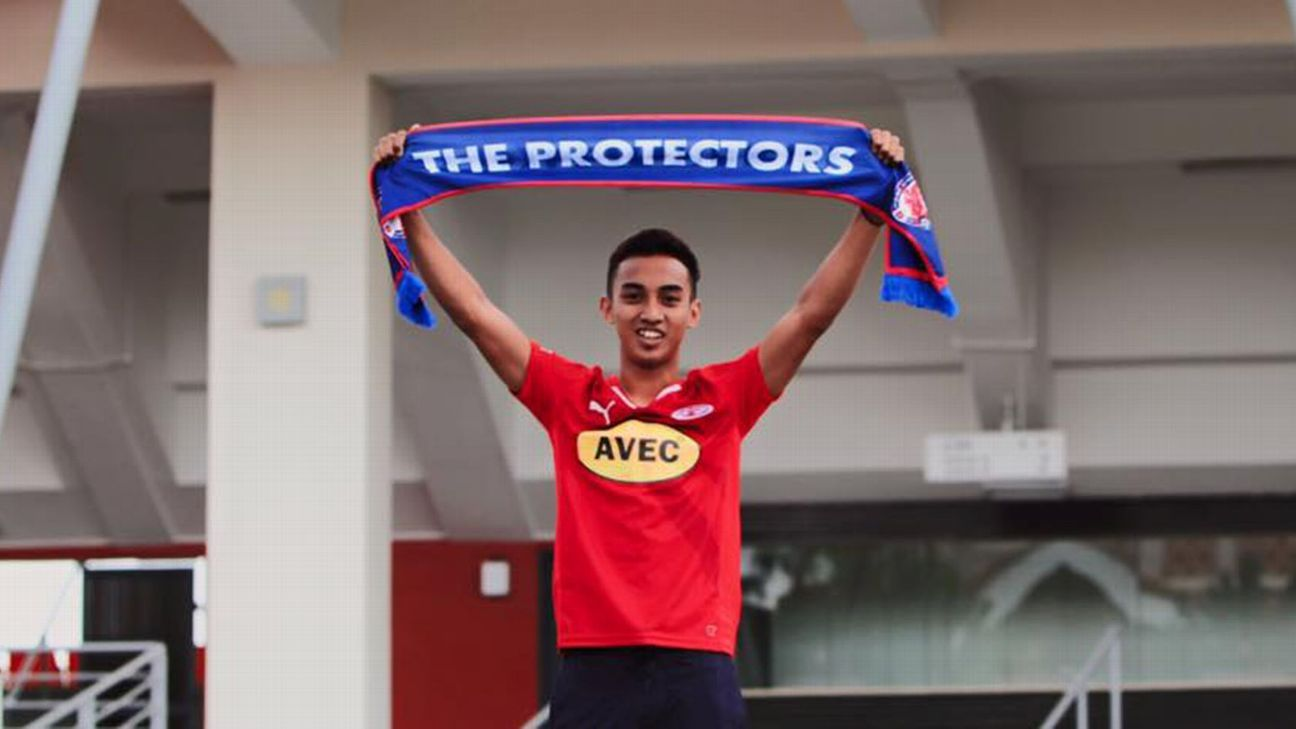 Home United winger Faris Ramli