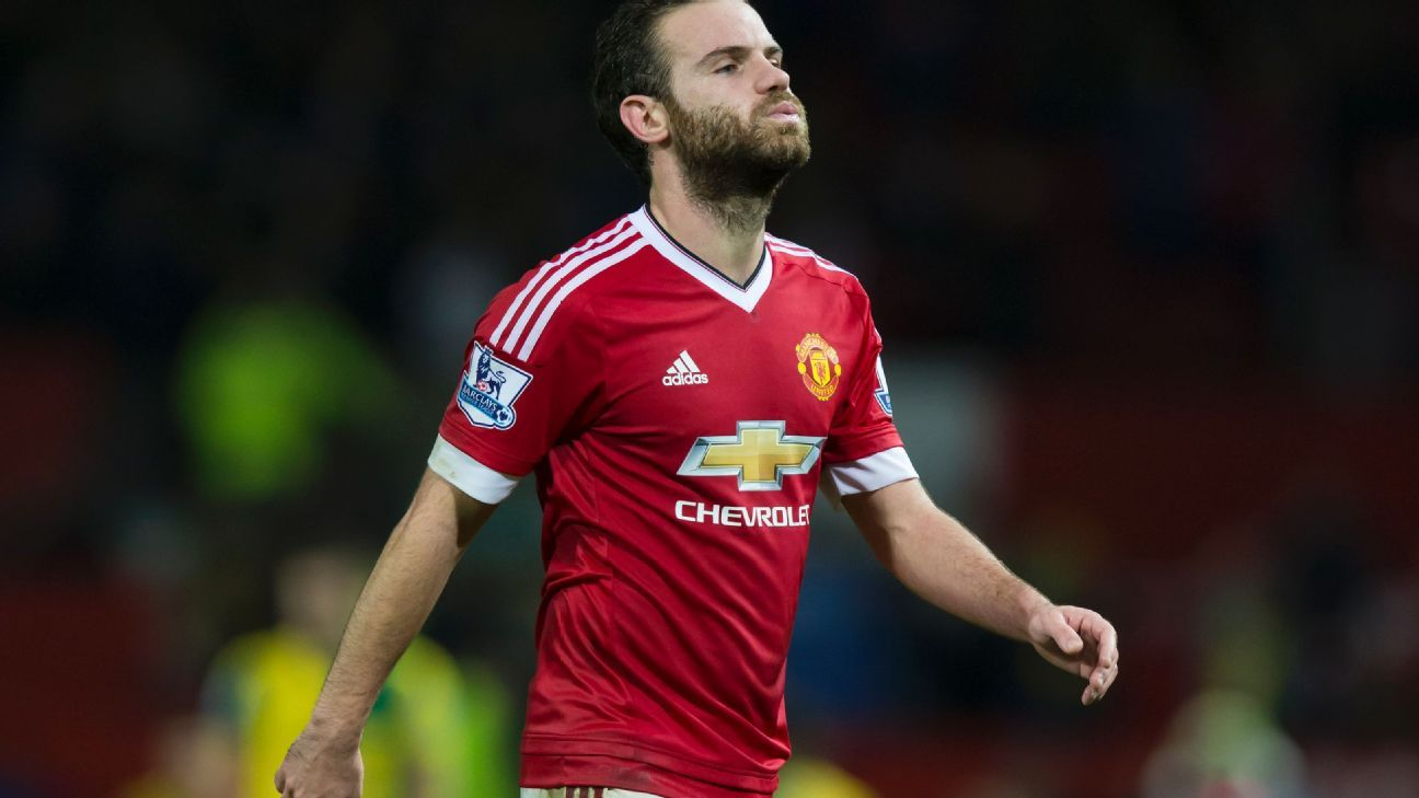 Juan Mata has not scored for Manchester United since a Nov. 7 win vs. West Brom.