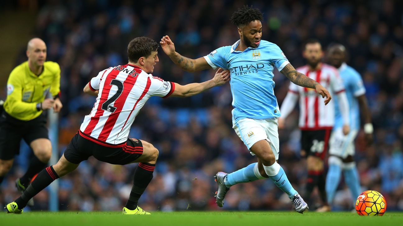 Raheem Sterling has posted five goals and two assists in 24 Premier League matches this season.