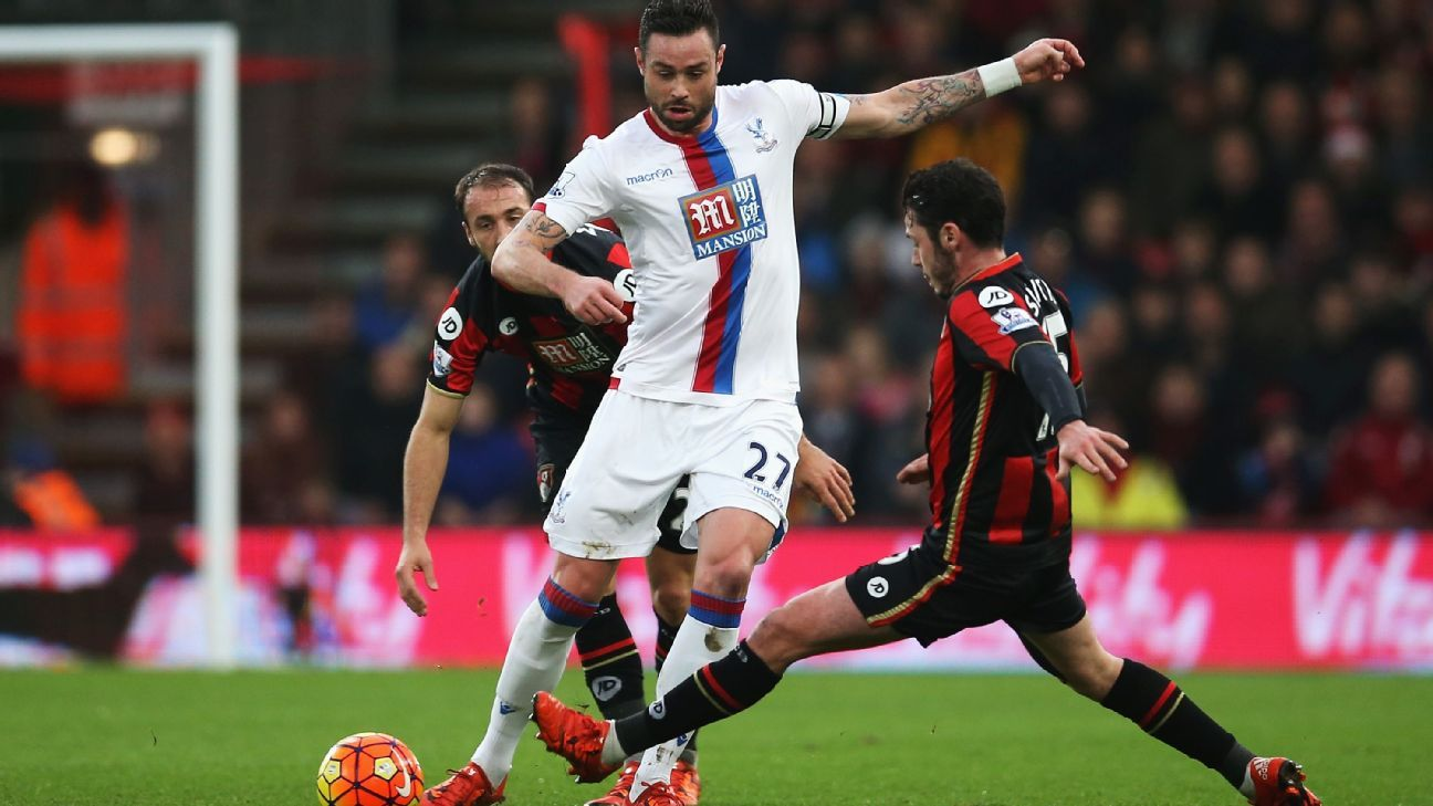 Damien Delaney and the Crystal Palace defence managed to keep Bournemouth at bay.