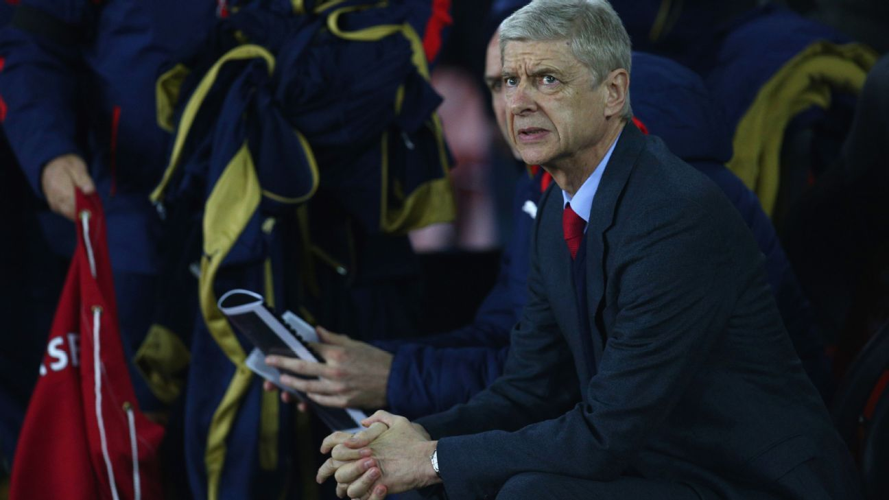 Arsenal manager Arsene Wenger could only look on in fright as his team were hit for three goals in the second half.