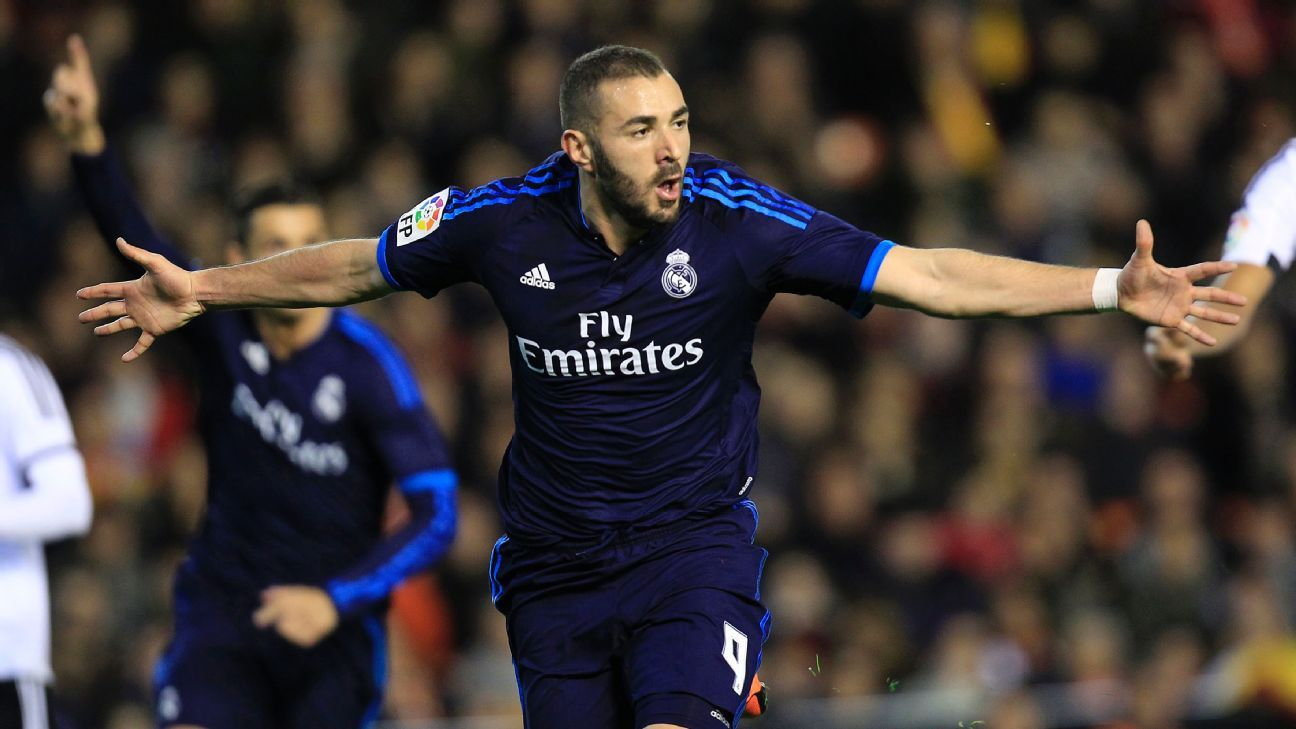 Karim Benzema notched his 12th La Liga goal of the season on Sunday against Valencia.