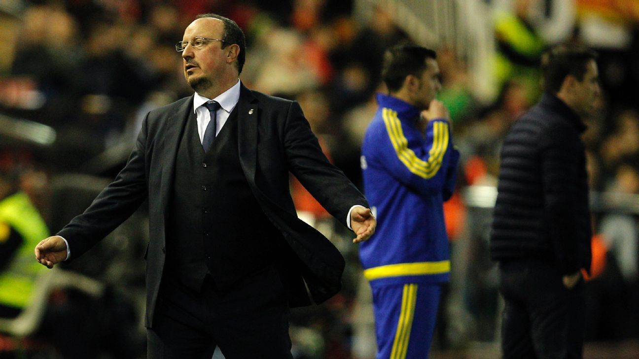 Twice Real Madrid coughed up leads to Valencia on Sunday, much to the dismay of manager Rafa Benitez.