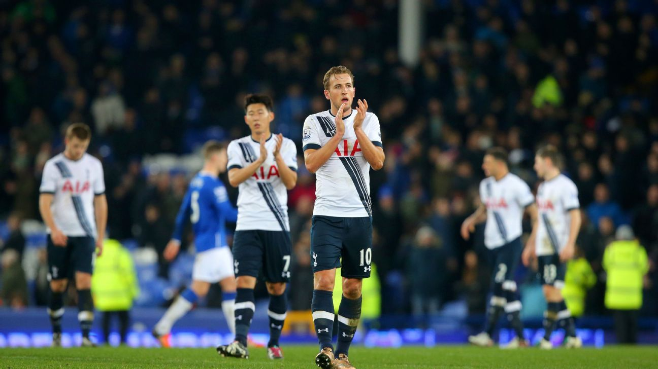 Harry Kane and Tottenham were left ruing their missed opportunity to collect another three points on Sunday at Everton.