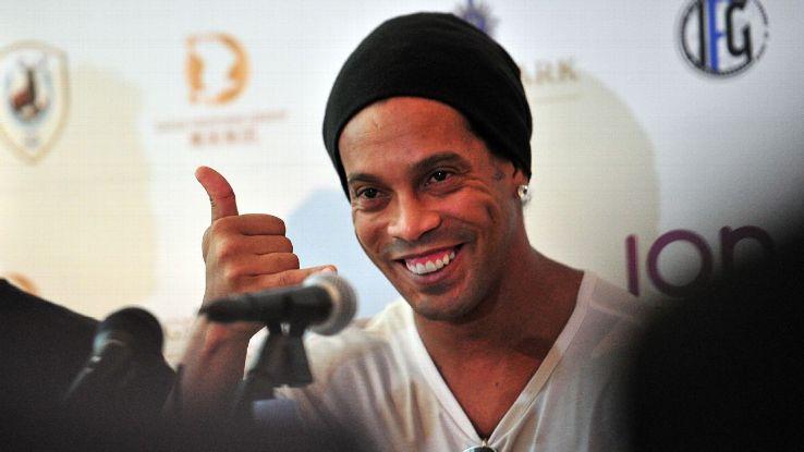 Brazil's Ronaldinho in Singapore