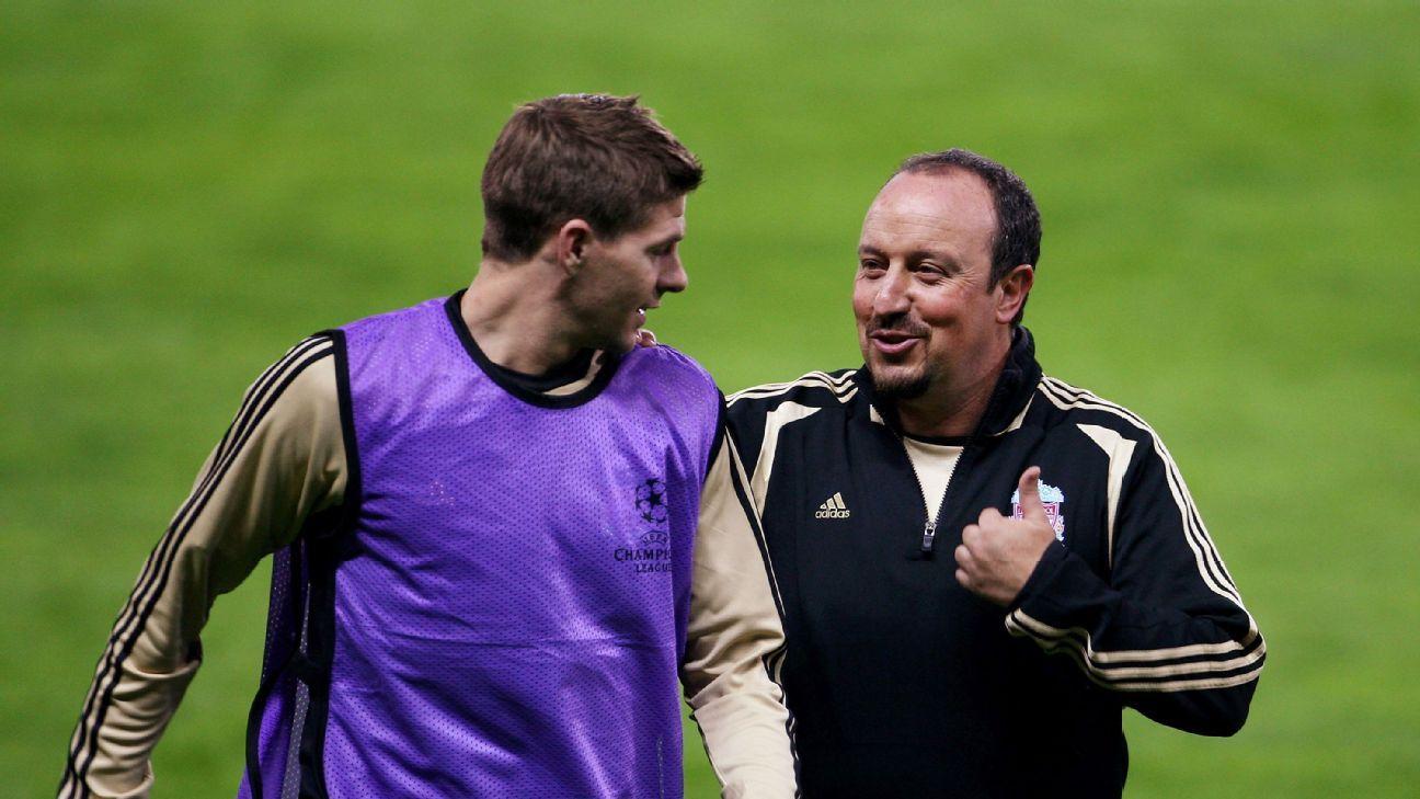 Steven Gerrard & Rafael Benitez