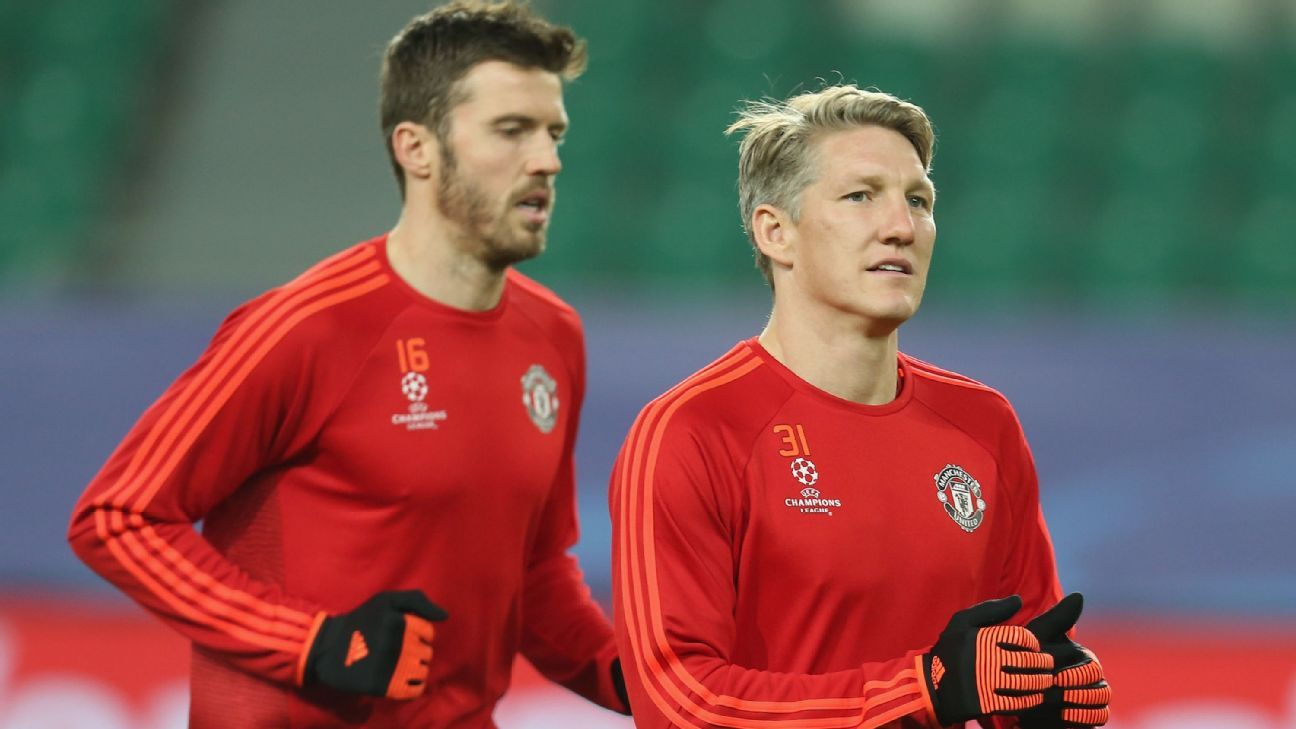 Michael Carrick and Bastian Schweinsteiger would likely depart United should Mourinho arrive, with both midfielders lacking the pace the Special One demands.