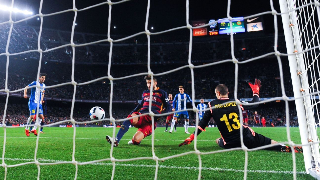 Pique Goal vs Espanyol