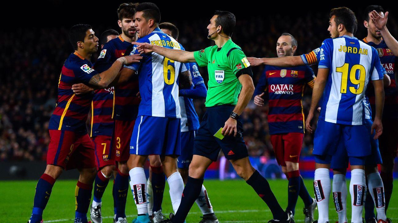 Barca-Espanyol scuffle