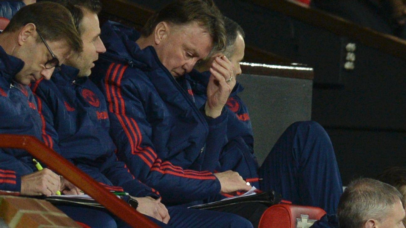 Louis van Gaal woe v Sheff Utd
