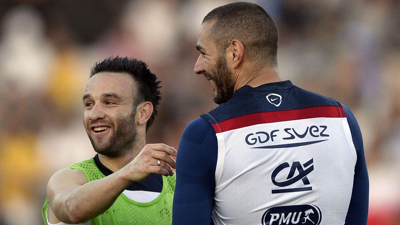 Mathieu Valbuena and Karim Benzema