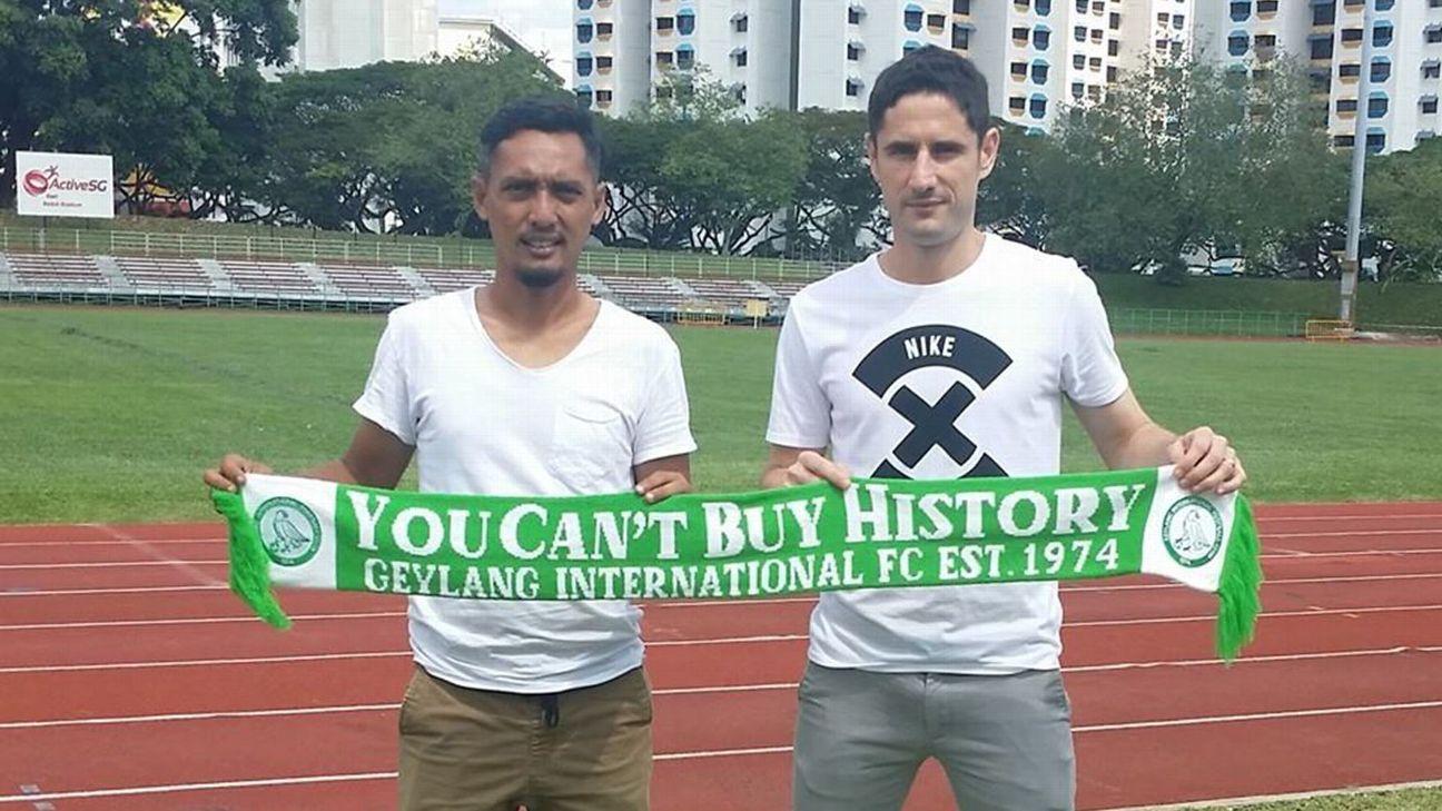 Geylang International defender Daniel Bennett