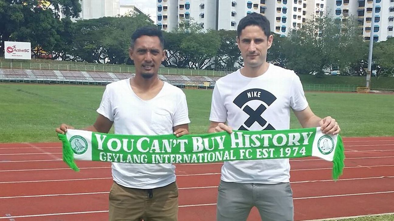 Geylang International defender Daniel Bennett