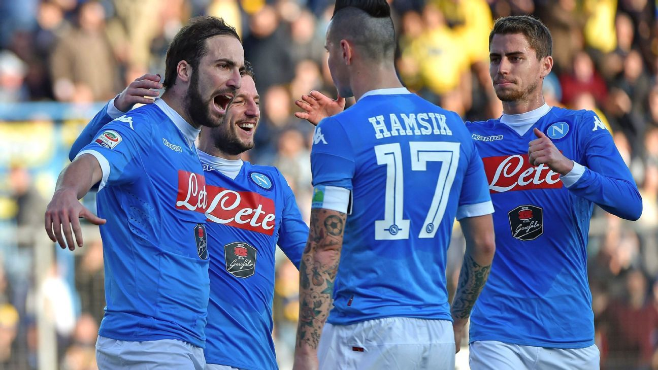 With 18 goals in 19 matches, striker Gonzalo Higuain has arguably been Napoli's most indispensable player.