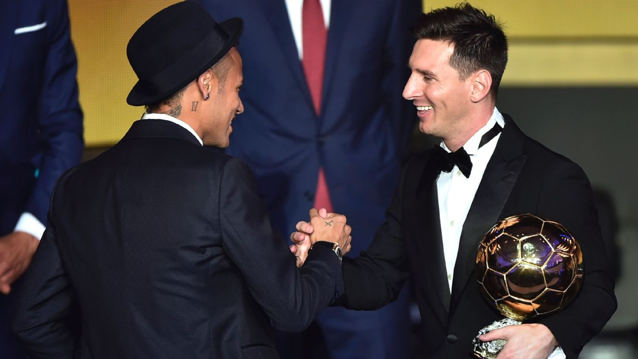 After cleaning up in Switzerland at the Ballon d'Or gala, Neymar and Lionel Messi will be looking to finish off Espanyol in the Copa del Rey on Wednesday.
