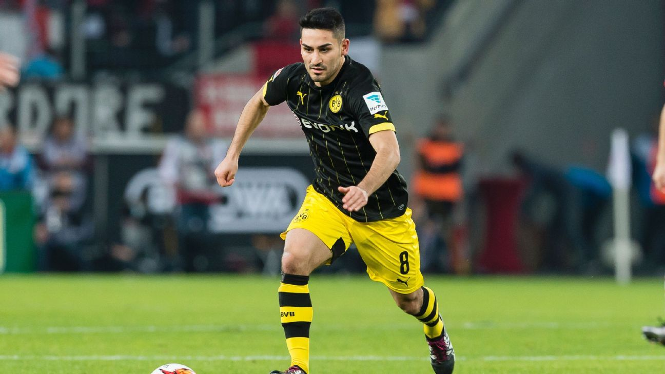 Ilkay Gundogan has started 16 Bundesliga matches this season for Borussia Dortmund.
