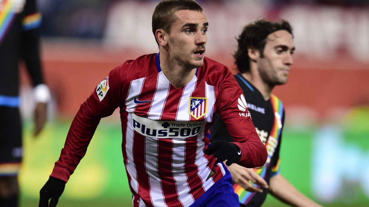 Antoine Griezmann came off the bench to score twice for Atletico.