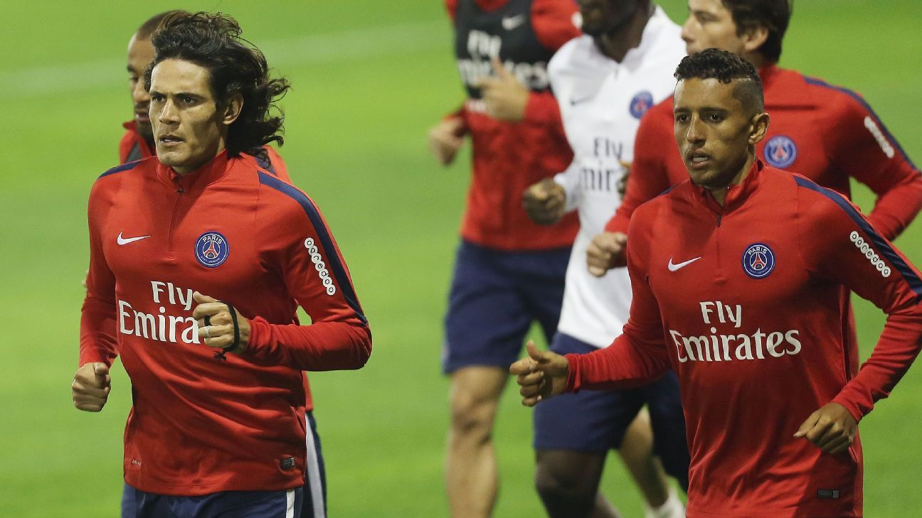 Edinson Cavani and Marquinhos