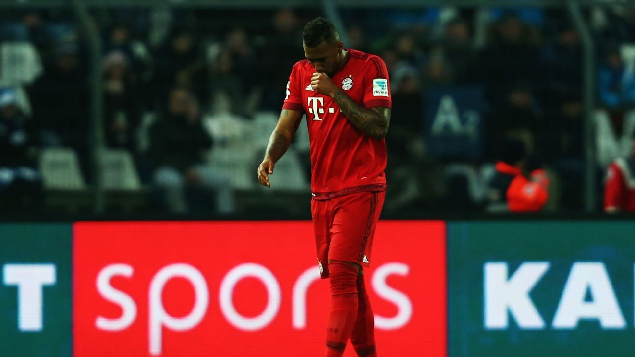 Boateng sent off Bayern friendly 160116