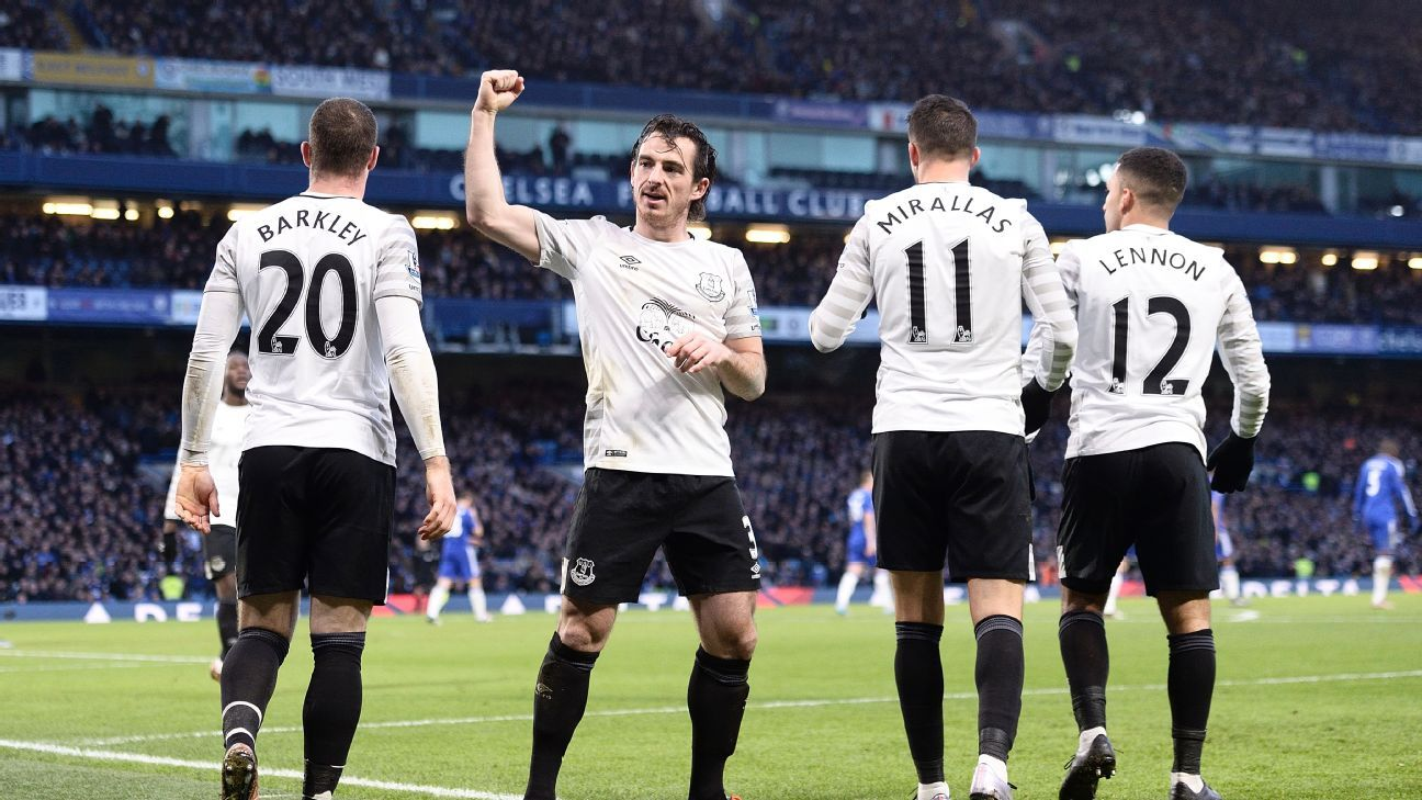 Leighton Baines had arguably his best performance of the season in Everton's 3-3 draw at Chelsea.