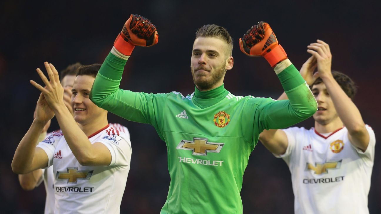 Key saves from David De Gea allowed Manchester United to emerge with a 1-0 win at Anfield.