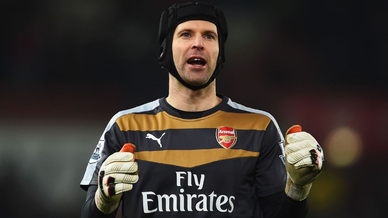 Petr Cech's steady presence in goal has been a major factor for title contenders Arsenal.