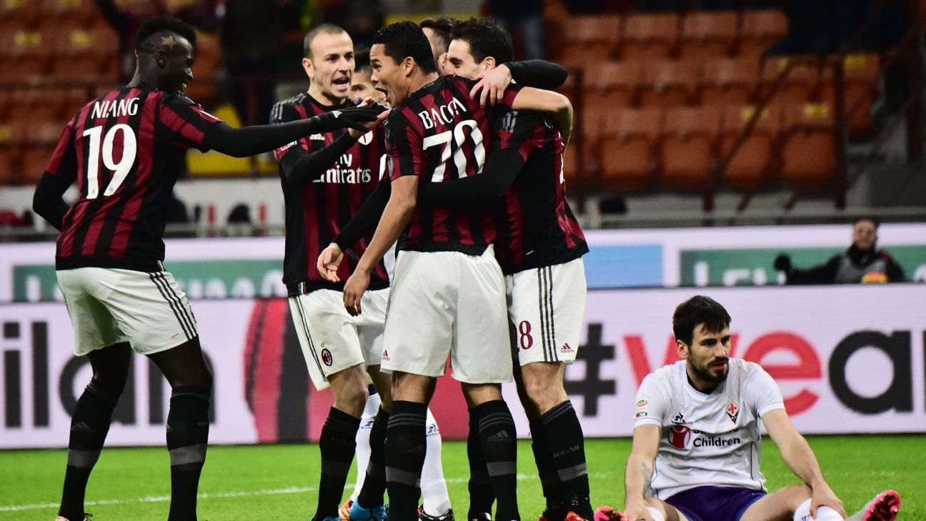 Milan are unbeaten in their last three after Sunday's victory against Fiorentina.