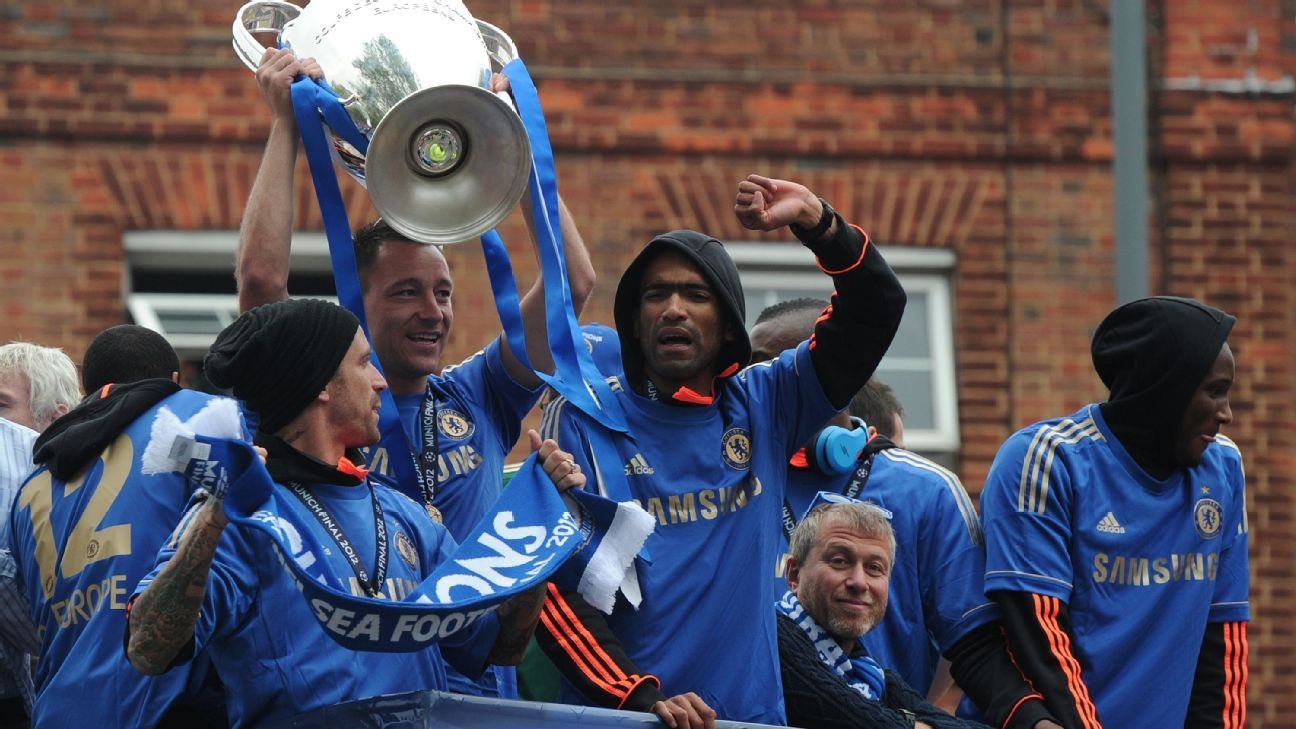 Chelsea's Champions League trophy parade