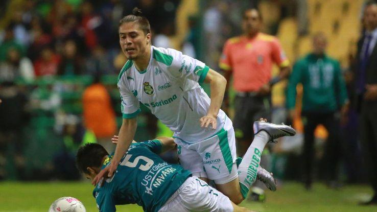 Jorge Villafana has started six of Santos Laguna's seven matches this season in the 2016 Liga MX Clausura.