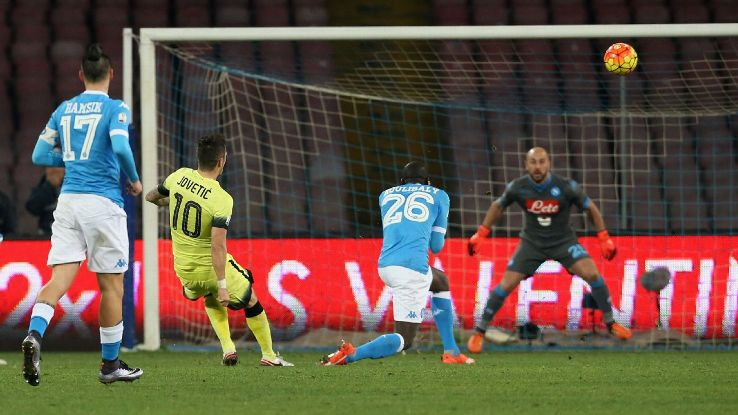 Jovetic Inter goal vs Napoli 160119