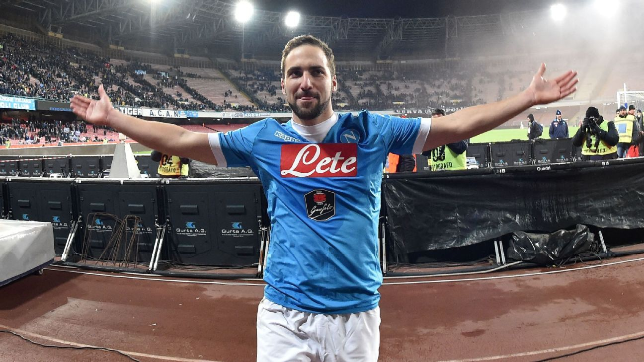 Napoli striker Gonzalo Higuain is in scorching form, with 20 goals thus far in Serie A.