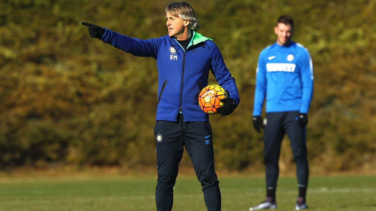It remains to be seen which formation Inter Milan manager Roberto Mancini will use on Sunday vs. Carpi.