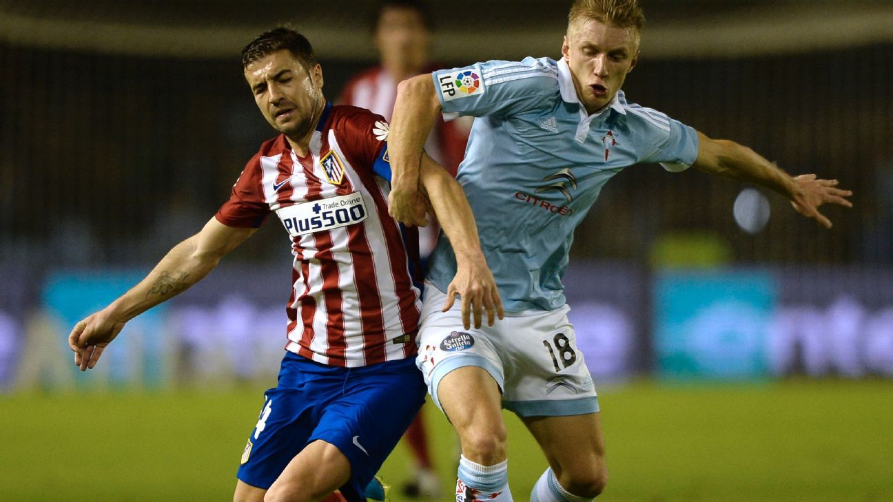 Gabi was at his hard-working best for Atletico in Wednesday's Copa del Rey 0-0 draw at Celta.