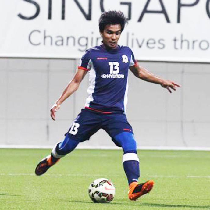 Tampines midfielder Yasir Hanapi