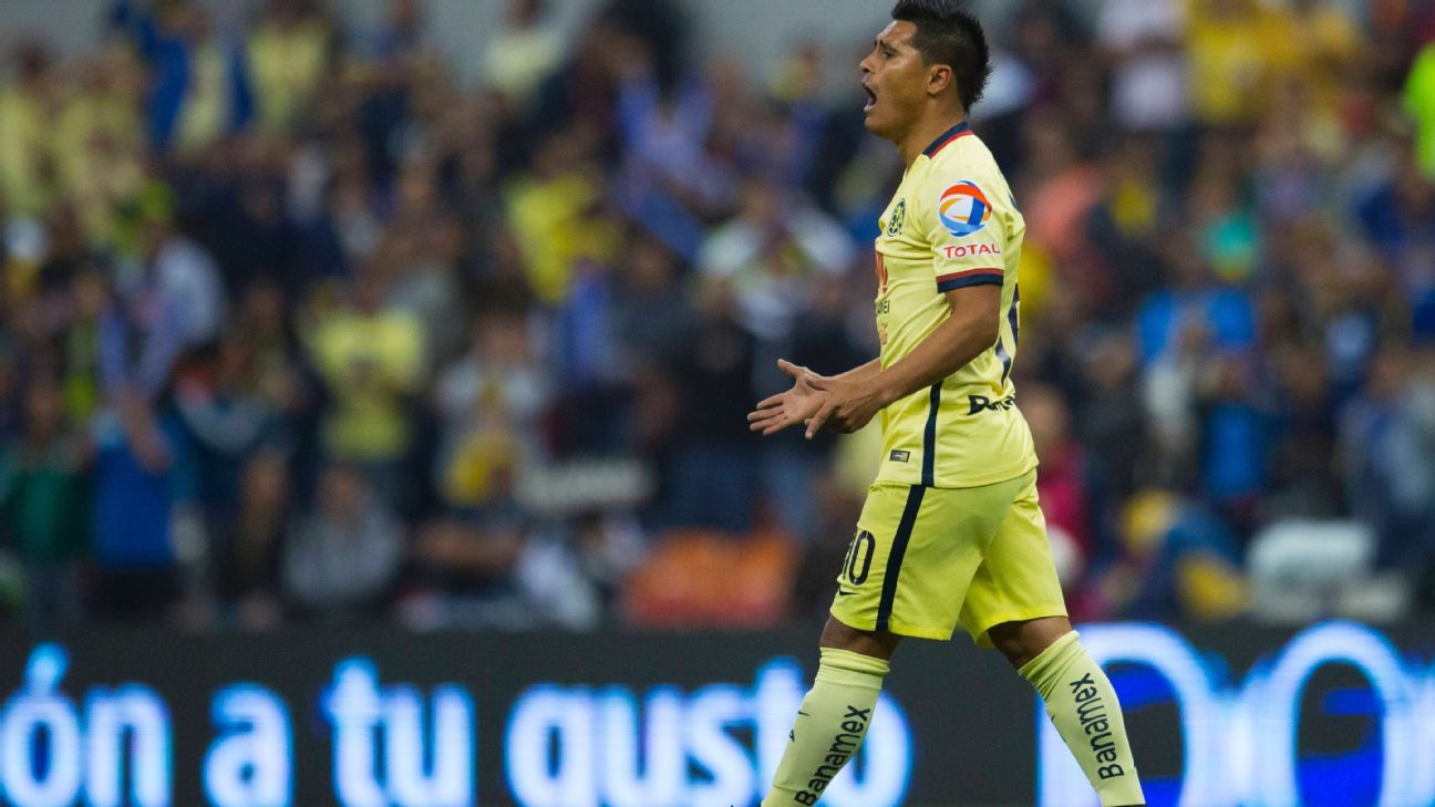 America's Osvaldo Martinez will have his hands full in dealing with Pachuca's speedy wingers.