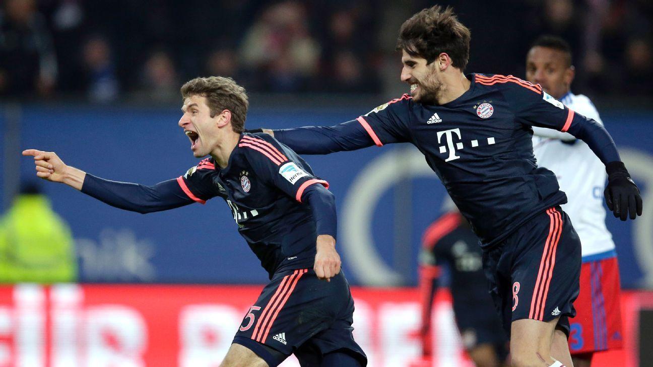 Bayern Muller Hernandez celeb 160122