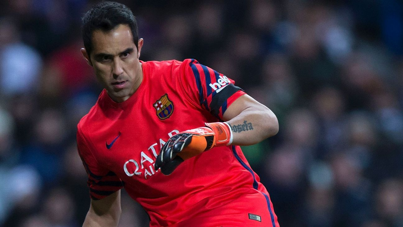 Claudio Bravo's timely interventions proved crucial for Barcelona in Saturday's 2-1 win at Malaga.