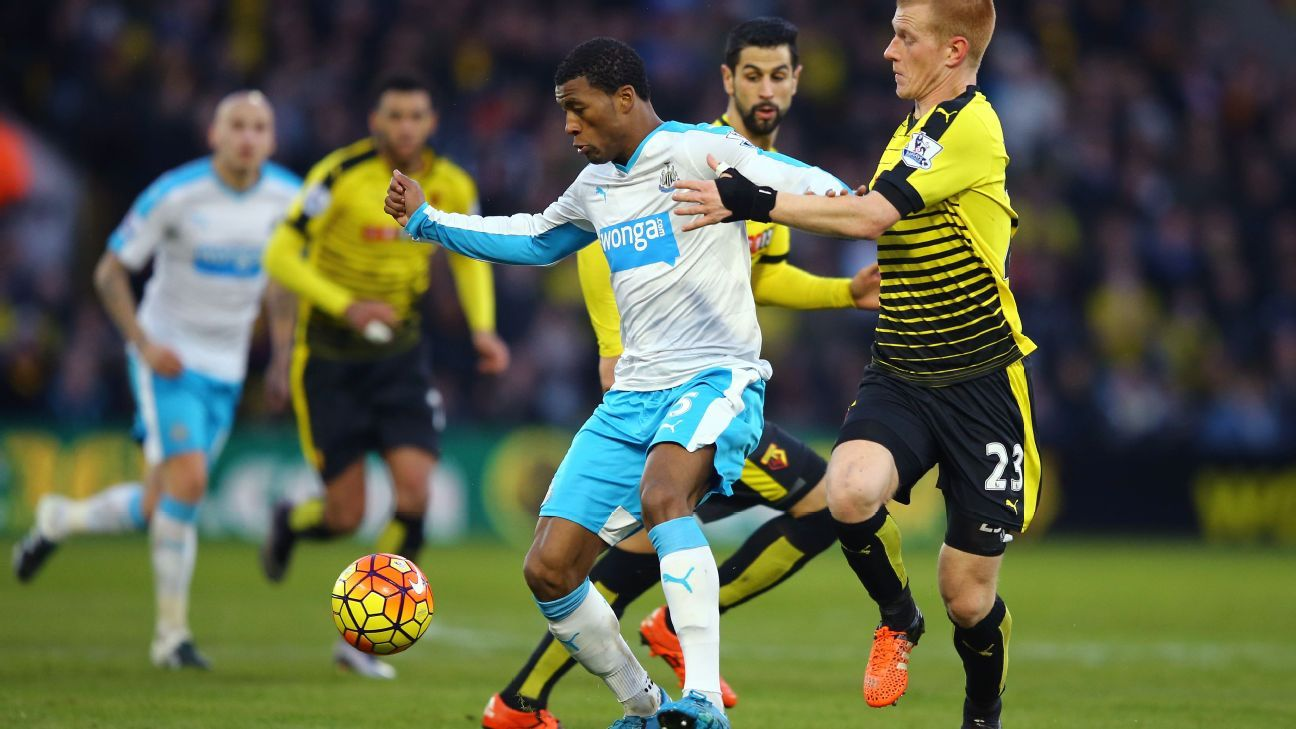 Georginio Wijnaldum was one of the few Newcastle players to deliver a solid performance against Watford.