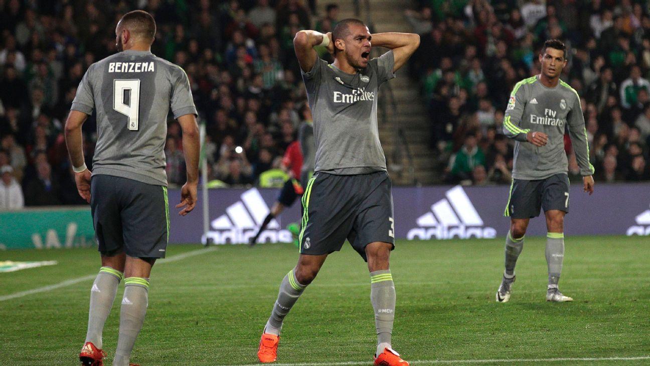 Pepe Woe Real Madrid Betis 160124