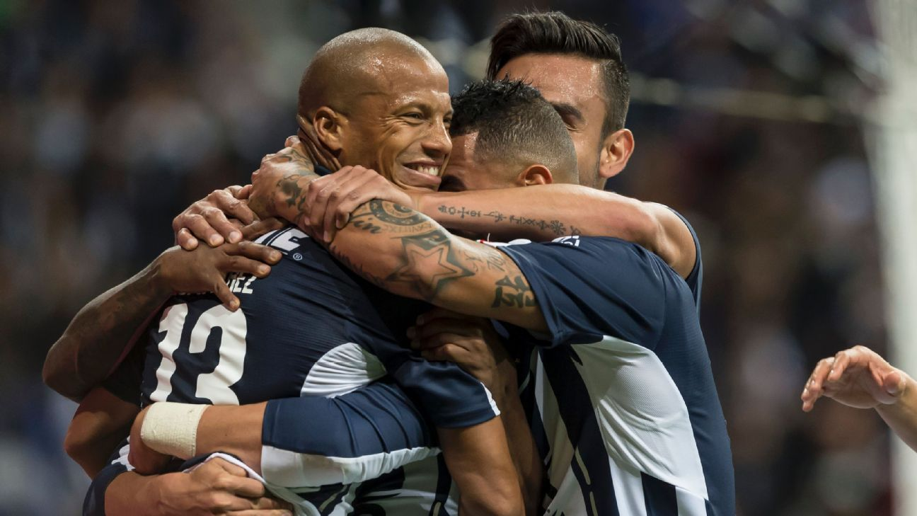Carlos Sanchez and Monterrey celebrate