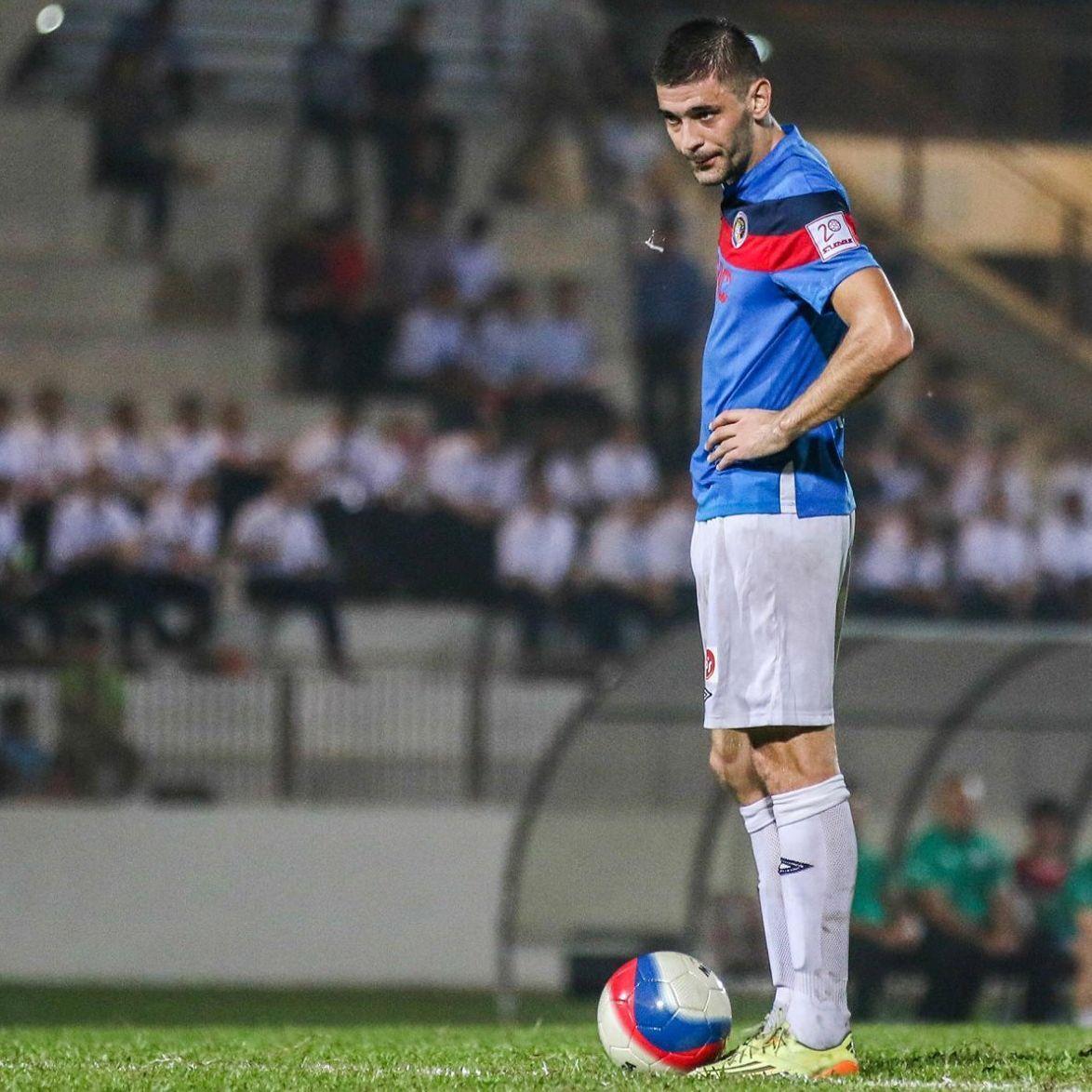 Balestier Khalsa striker Miroslav Kristic